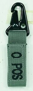 VooDoo Tactical O Positive/Black Letters Foliage Webbing Blood Type Tag
