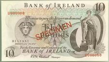 Bank Of Ireland Belfast 10 Pounds Specimen Colorful Currency Banknote Gem Unc