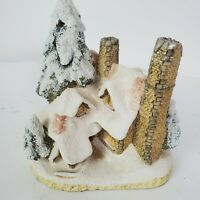 Vintage David Winter Christmas Snow Cottage 1984 Hand Made Hand Painted England