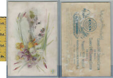 Victorian Card, 1890's, Clark's Thread, National Flower Series, France