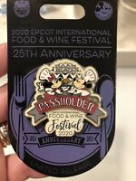 Disney Parks Food & Wine Festival Epcot 2020  Mickey Minnie Mouse Passholder Pin