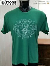 Stone Brewing Co Est. 1996 Craft Beer Green Graphic Lightweight S/S T-Shirt Sz L