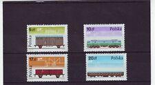 POLAND - SG3006-3009 MNH 1985 RAILWAY ROLLING STOCK