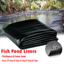5 Sizes HDPE Fish Pool Pond Liner Membrane Reinforced Gardens Pools Landscaping