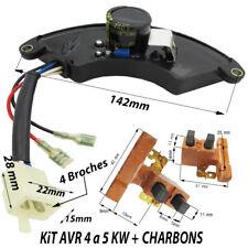 groupe electrogene piece generatrice carte regulateur AVR 4 a 5 KVA + Charbons