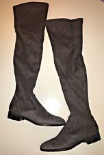 74c8c1646ae Marc Fisher Olympy Over the Knee Flat Casual Boots Gray Faux Suede Sz 8