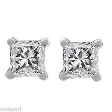 .53ct Princess Cut Diamond Stud Earrings j Si3 Clarity Natural 14k Screw Back
