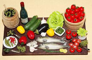 Mediterrane Küchenszene...  / Fimominiaturen  *Miniatur 1:12 by BP*