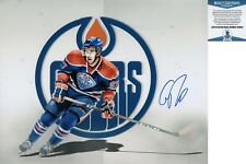Connor McDavid Signed 11x14 Photo Edmonton Oilers Beckett BAS COA