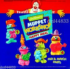 1995 McDonalds Muppet Workshop MIP Complete Set - Lot of 4, Boys & Girls, 3+