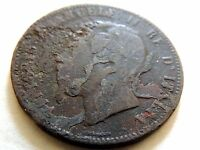 "1867-H Italy Ten (10) Centesimi ""Vittorio Emanuele ll"" Coin"