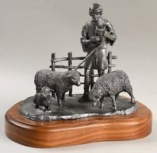 Michael Ricker Pewter Casting DAVID with Shepherd's Crook and SHEEP