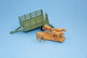 Vintage Husky Farm Trailer with livestock VGC