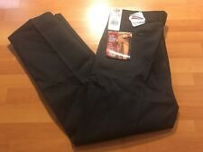 DICKIES  NWT Flat Front Scotchguard Stain Release Work Pants Black Size 40 X 32