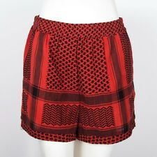 Cecilie Copenhagen Red Cotton Shorts Small