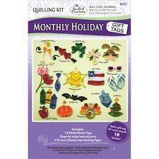 Quilled creazioni Quilling KIT-MENSILE Vacanza Regalo etichette