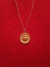gold plated necklace chain with cc style pendant