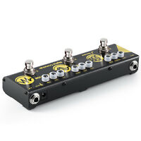 Donner Effect Pedal Alpha Cruncher 3 Types of Guitar Effects DC 9V Power Supply
