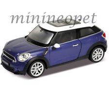 WELLY 24050 MINI COOPER S PACEMAN 1/24 DIECAST MODEL CAR BLUE