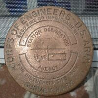 Vintage Brass Survey Mark Corps Of Engineers U.S. Army