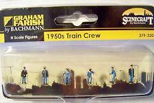 N scale Scenecraft 1950's Train Crew Figures # 320