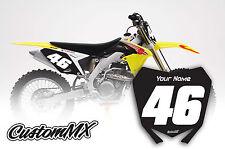 SUZUKI RM RMZ Motocross Number Backgrounds 125 250 450 DECALS / STICKERS
