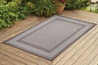 Contemporary Indoor / Outdoor Sisal Area Rug for Garage, Garden Kitchen | Brown