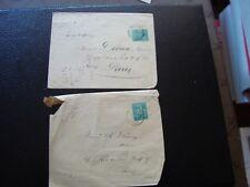 FRANCE - 2 enveloppes 1879/18?? (timbre yvert et tellier n° 75 tout etat) (B16)