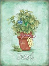 Basil Herbs Food & Drink Gardening Gift Cooking Kitchen Small Metal/Tin Sign