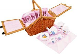 Picknickkorb Romantik, Porzellan, 31 Teile, für Kinder