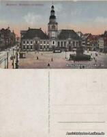 Ansichtskarte Mannheim Marktplatz mit Rathaus 1918