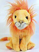 "TY Bushy Lion Plush Buddy Buddies Bean Bag Stuffed Animal Beanie Cat Large 12"""