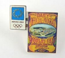 Athens Olympic Games 2004 Pin Badge - Official Poster Pin 1904 st louis U.S.A