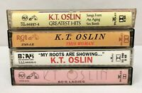 Lot of 4 K.T. OSLIN Cassette Tapes ~ My Roots Are Showing, 80's Ladies, Greatest