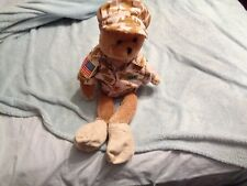 """CHANTILLY LANE 19"""" MILITARY ARMY HERO BEAR SINGS GOD BLESS THE USA LEE GREENWOOD"""