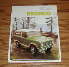 1975 Ford Bronco Foldout Sales Brochure 75