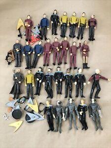 "Huge lot of 58 Star Trek 90's Playmates Next Generation Figures 6"" Loose Lot"