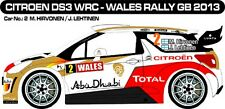 DECALS 1/43 CITROËN DS3 WRC #2 - HIRVONEN - RALLYE WALES GB 2013 -MF-ZONE D43289
