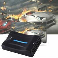 SCART to HDMI Adapter 1080P HD Video Audio Upscale DVD Converters TV USB L5L0