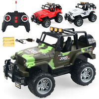 Remote Control Car USB Recharge Monster Track 1:18 RC Off Road Jeep Car