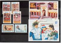 ANTIGUA & BARBUDA 1992 OLYMPICS XF Cpl. MNH** Set + Sheet, Sport, Jeux-Olympique