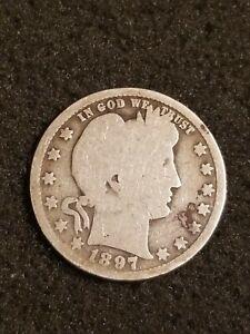 1897 O Barber Silver Quarter Dollar Coin G Better Date