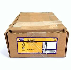 Pack of 10 Ilsco CPM-300 Copper Pigtail Adaptor 300 KCMIL 600 Volts