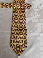 Cravate PIERRE CARDIN fabriquée en France - jaune/rouge/gris/blanc 100% SOIE