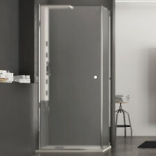 Box doccia 70x90 cristallo opaco apertura battente altezza 190 reversibile nuovo