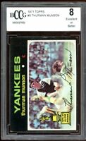 1971 Topps #5 Thurman Munson Card (All-Star Rookie ) BGS BCCG 8 Excellent+