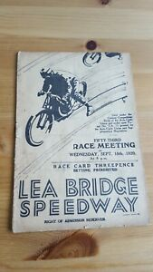 Lea Bridge Speedway 18.9. 1929 Lea Bridge Handicap + Ron Johnson V Jep Taylor
