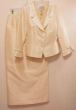 RICKIE FREEMAN TERI JON Long Silk Formal Evening Skirt Suit 12 14 $895 Perfect!