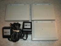 Lot of 3 Nortel Norstar ATA2 Analog Terminal Adapter NT8B90AL-93 W/ 2 Power Supp