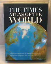 The Times Atlas of the World 1995 Hardcover Book w/ Hard Sleeve 1st US Edition